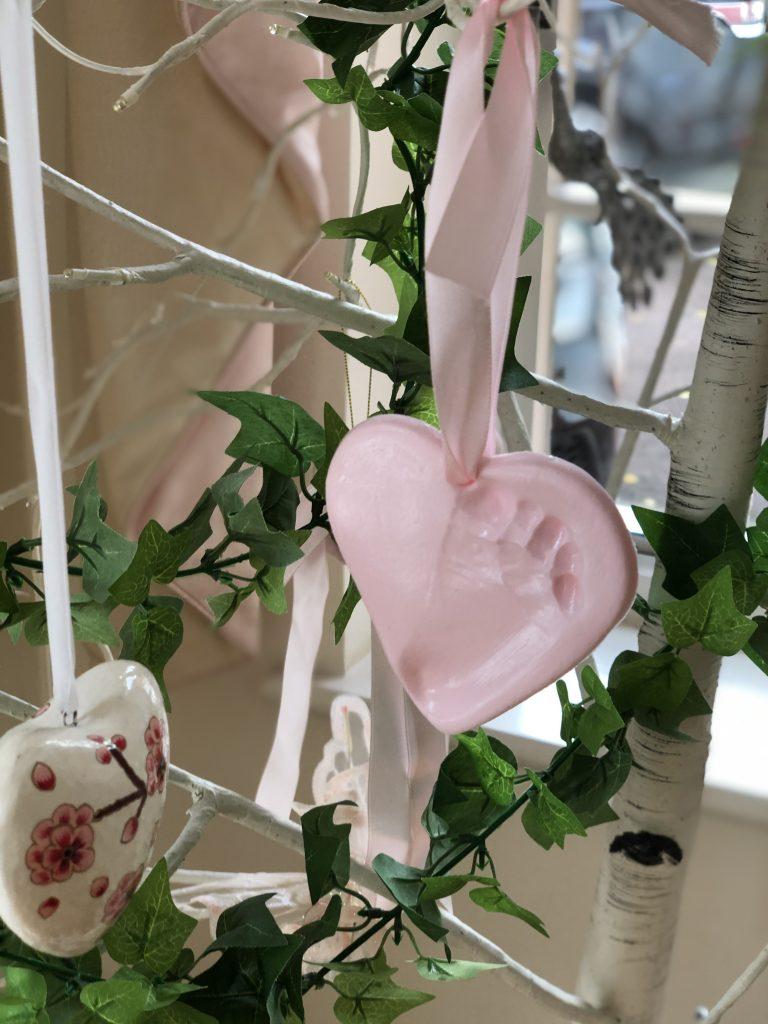 baby clay heart imprints